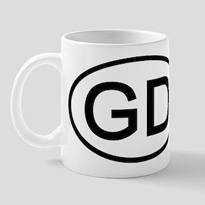 GD - Initial Oval Mug
