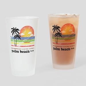 Palm Beach Florida Vintage Drinking Glass
