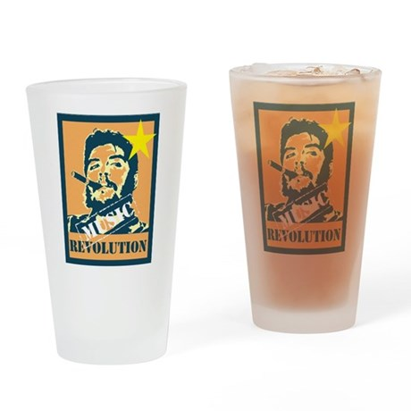 Guevara House Music Revolutio Drinking Glass