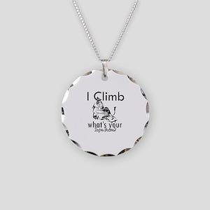 I Climb Necklace Circle Charm