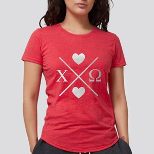 Chi Omega Cross Womens Tri-blend T-Shirt