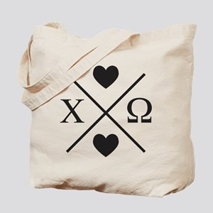 Chi Omega Cross Tote Bag