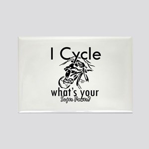 I Cycle Rectangle Magnet