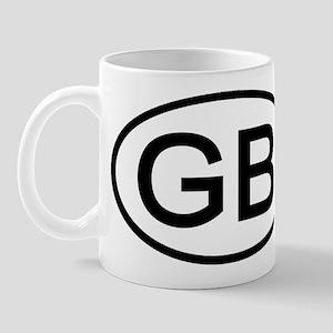 GB - Initial Oval Mug