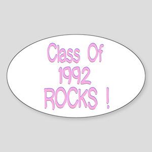 1992 Pink Oval Sticker