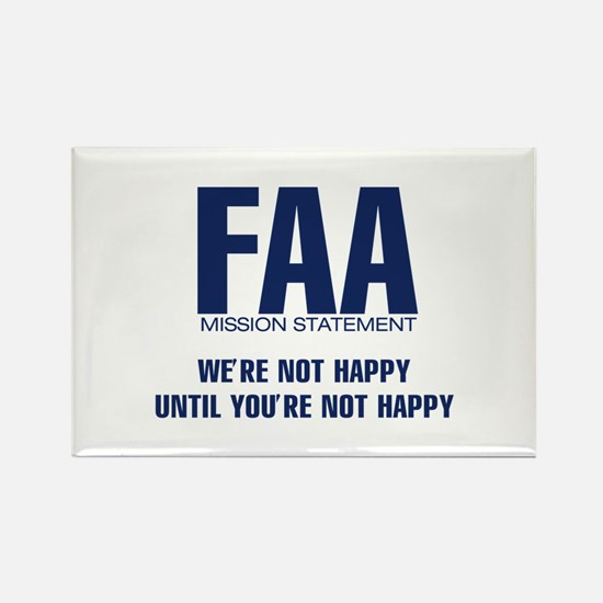 FAA - Mission Statement Rectangle Magnet