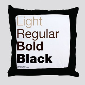 Helvetica Neue Throw Pillow