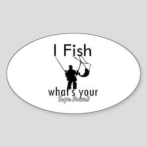 I Fish Sticker (Oval)