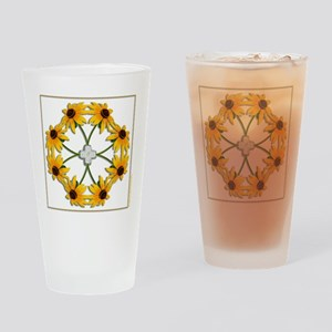 Black-Eyed Susan Pattern Drinking Glass
