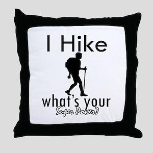 I Hike Throw Pillow