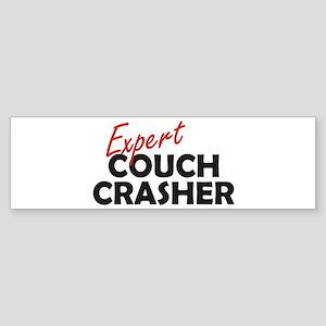Expert Couch Crasher Sticker (Bumper)