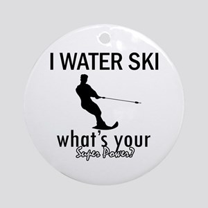 I Water Ski Ornament (Round)