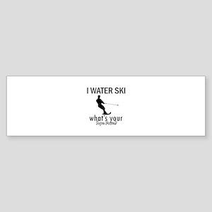 I Water Ski Sticker (Bumper 10 pk)