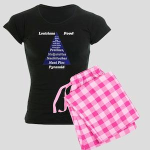 Louisiana Food Pyramid Women's Dark Pajamas