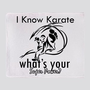 I know karate Throw Blanket