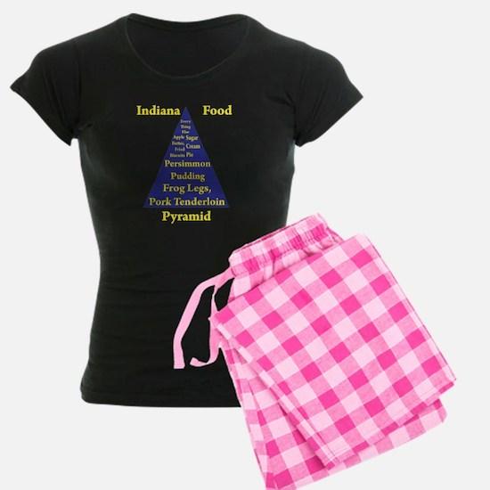 Indiana Food Pyramid pajamas