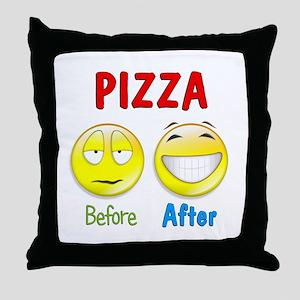 Pizza Humor Throw Pillow