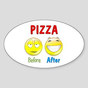 Pizza Humor Sticker (Oval)