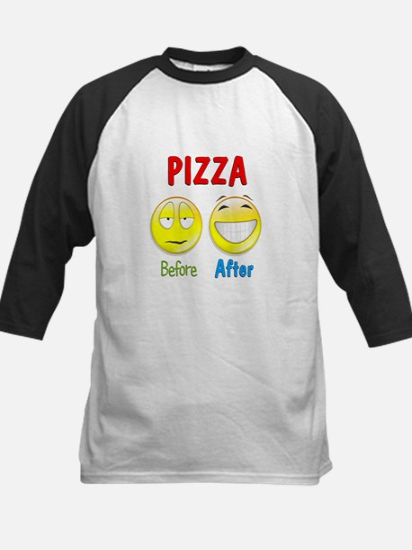 Pizza Humor Kids Baseball Jersey