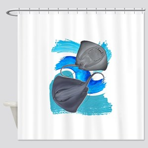 TWO ON IT Shower Curtain