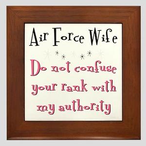 Do not confuse your rank USAF Framed Tile
