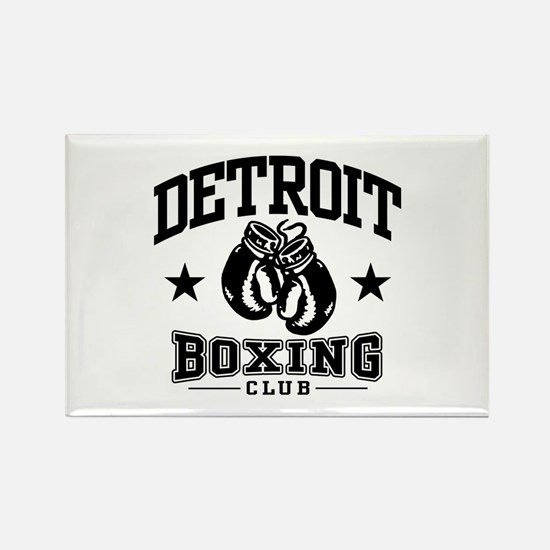 Detroit Boxing Rectangle Magnet
