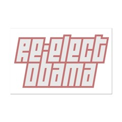 Re-Elect Obama Mini Poster Print