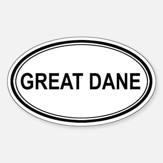 Great Dane Euro Oval Decal