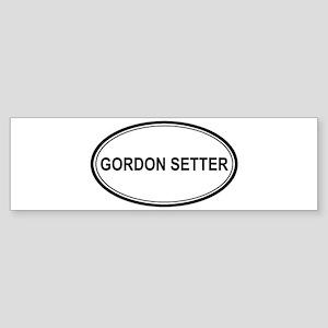 Gordon Setter Euro Bumper Sticker