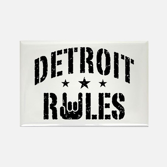 Detroit Rules Rectangle Magnet