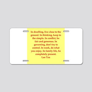 Lao Tzu Aluminum License Plate