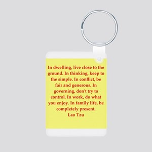 Lao Tzu Aluminum Photo Keychain