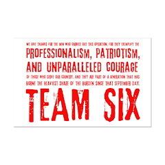 Team Six Quote Mini Poster Print