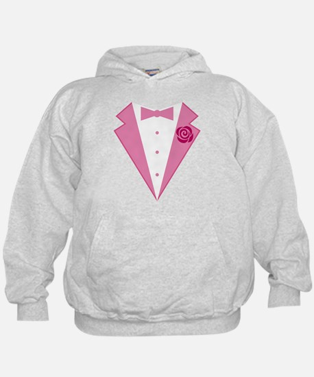 Funny Pink Tuxedo Hoodie