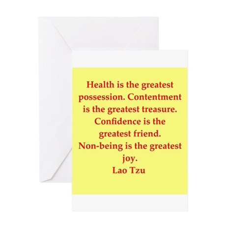 Lao Tzu Greeting Card