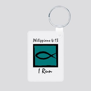Christian Runner's Aluminum Photo Keychain