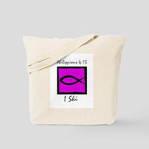 The Christian Skier Tote Bag