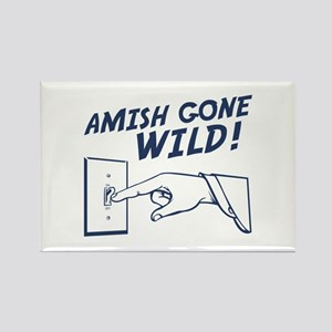 """Amish Gone Wild!"" Rectangle Magnet"