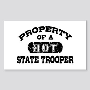 Property of a Hot State Trooper Sticker (Rectangle