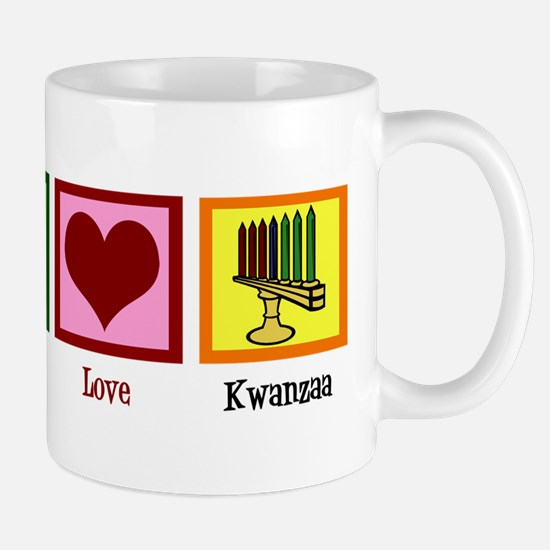 Peace Love Kwanzaa Mug
