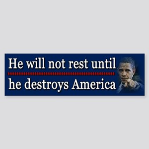 America Destroyed Sticker (Bumper)