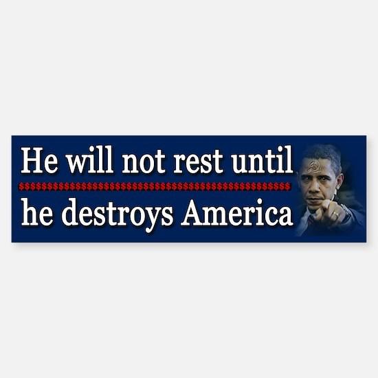 America Destroyed Sticker (Bumper)