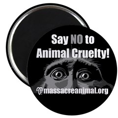 SAY NO TO ANIMAL CRUELTY - Magnet