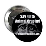"SAY NO TO ANIMAL CRUELTY - 2.25"" Button (10 pack)"