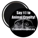 "SAY NO TO ANIMAL CRUELTY - 2.25"" Magnet (100 pack)"