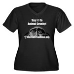 SAY NO TO ANIMAL CRUELTY - Women's Plus Size V-Nec
