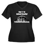 SAY NO TO ANIMAL CRUELTY - Women's Plus Size V-Nec