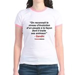 GANDHI 01 - Jr. Ringer T-Shirt