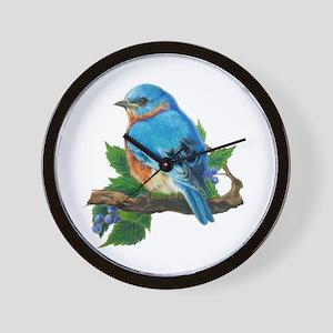 """Wall Clock """"Berry Bluebird"""""""
