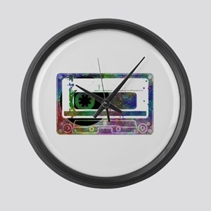 Mixed Tape Large Wall Clock